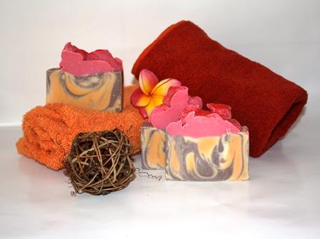 chocolate jaffa soap hand made olive oil soap
