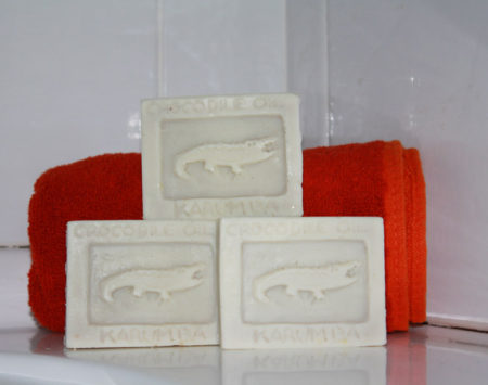 Authentic handmade crocodile soap from Karumba in North Queensland