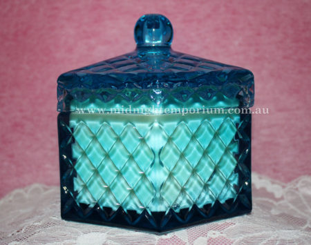 Blue Octagonal Trinket Box Candle