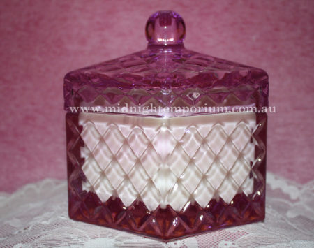 Pink Octagonal Trinket Box Candle