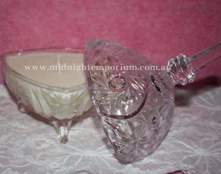 Triangle Cut Glass Trinket Box